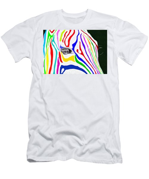 Zebra Nothing Is Black And White Men's T-Shirt (Athletic Fit)