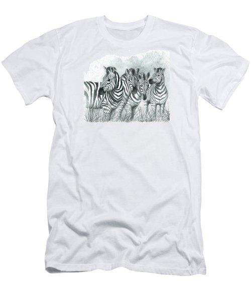 Zebra Quartet Men's T-Shirt (Slim Fit) by Phyllis Howard