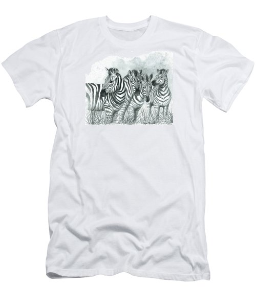 Zebra Quartet Men's T-Shirt (Athletic Fit)