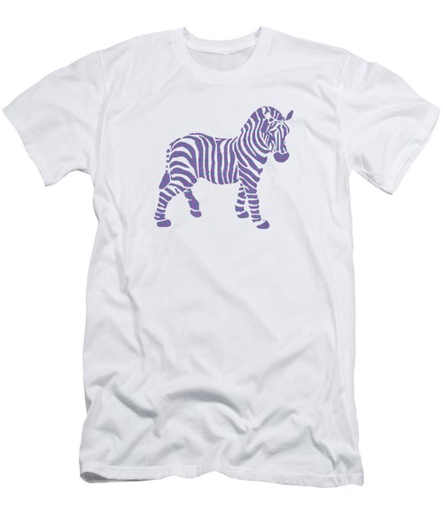 Zebra Stripes Pattern Men's T-Shirt (Athletic Fit)