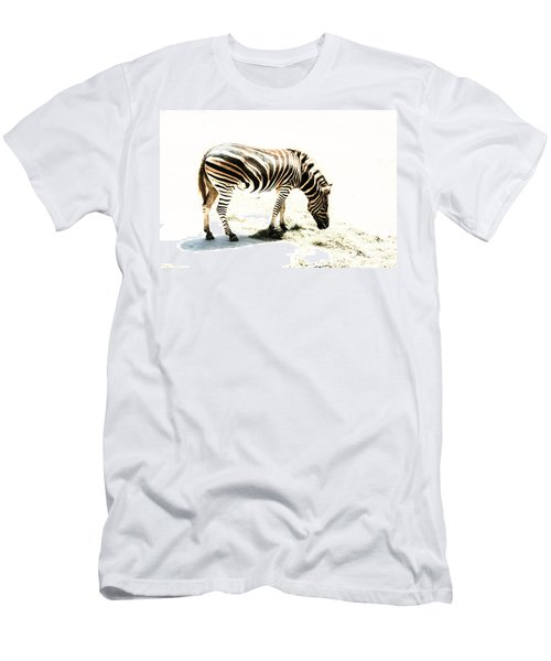 Men's T-Shirt (Slim Fit) featuring the photograph Zebra Stripes by Stephen Mitchell