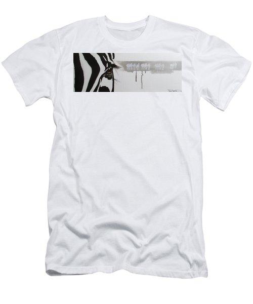 Zebra Tears Men's T-Shirt (Athletic Fit)