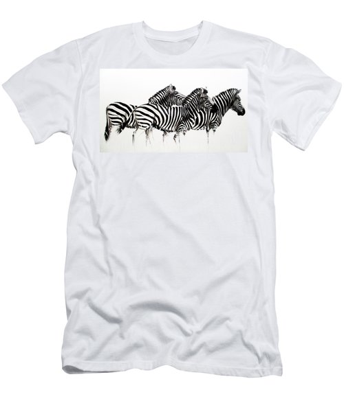 Zebras - Black And White Men's T-Shirt (Athletic Fit)