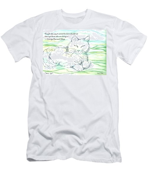 Zen Cat Men's T-Shirt (Athletic Fit)