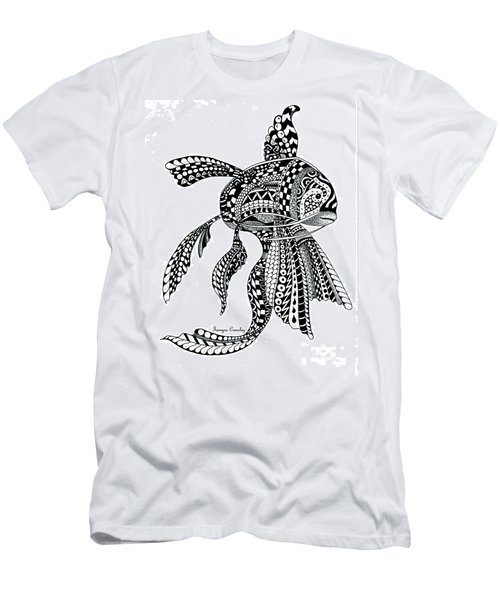 Zen Goldfish Men's T-Shirt (Slim Fit) by Tamyra Crossley