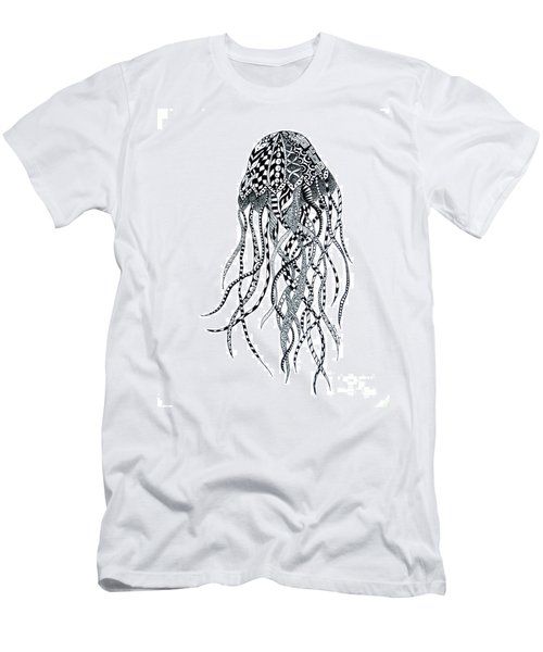 Zen Jellyfish Men's T-Shirt (Slim Fit) by Tamyra Crossley