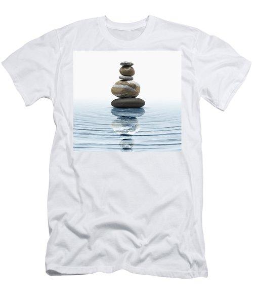 Zen Stones In Water Men's T-Shirt (Athletic Fit)