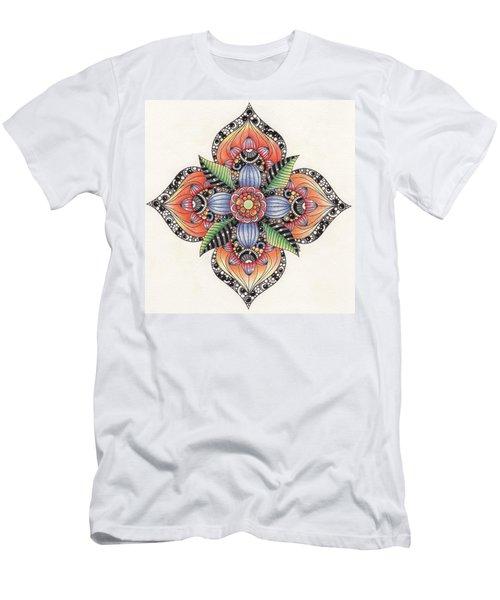 Zendala Template #1 Men's T-Shirt (Slim Fit) by Jan Steinle