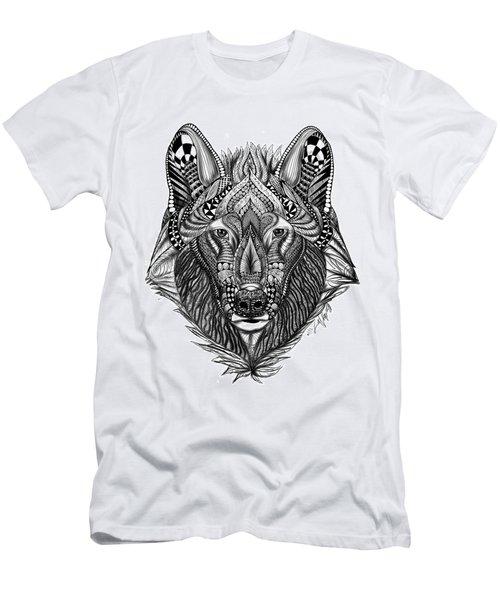 Zendoodle Wolf Men's T-Shirt (Athletic Fit)