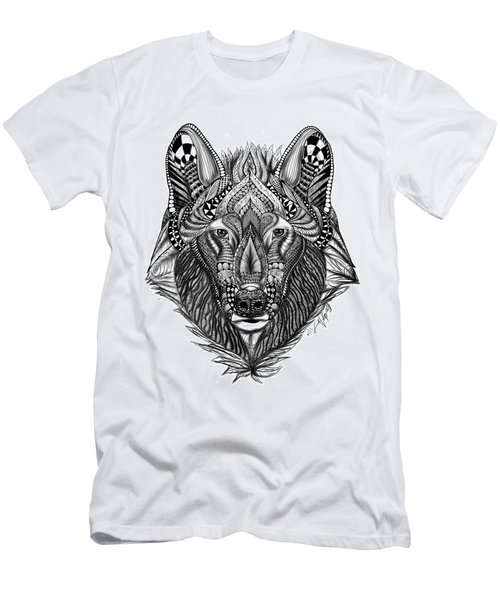 Zendoodle Wolf Men's T-Shirt (Athletic Fit)