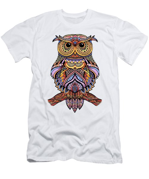 Zentangle Owl Men's T-Shirt (Slim Fit) by Suzanne Schaefer