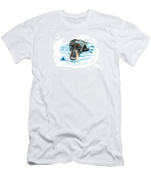 Men's T-Shirt (Slim Fit) featuring the drawing Zeus by Mike Ivey