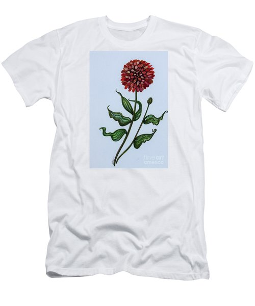 Zinnia Botanical Men's T-Shirt (Slim Fit) by Elizabeth Robinette Tyndall