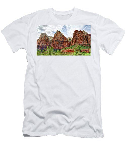 Zion N P # 41 - Court Of The Patriarchs Men's T-Shirt (Athletic Fit)