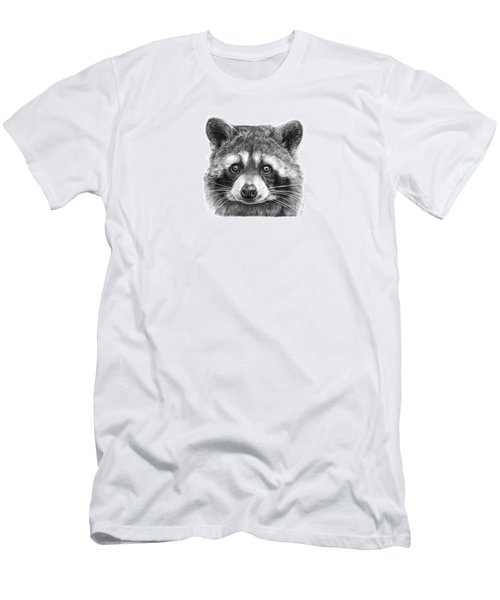 Men's T-Shirt (Slim Fit) featuring the drawing 046 Zorro The Raccoon by Abbey Noelle