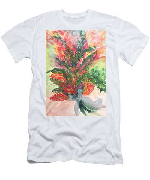 Bouquet And Ribbon Men's T-Shirt (Athletic Fit)