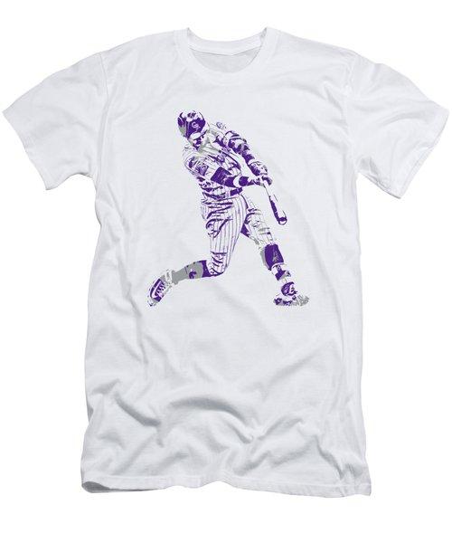 Trevor Story Colorado Rockies Pixel Art 5 Men's T-Shirt (Athletic Fit)