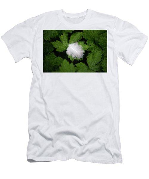 Colours. White Men's T-Shirt (Athletic Fit)