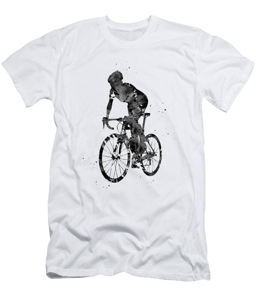 Cyclist Sprinting Men's T-Shirt (Athletic Fit)