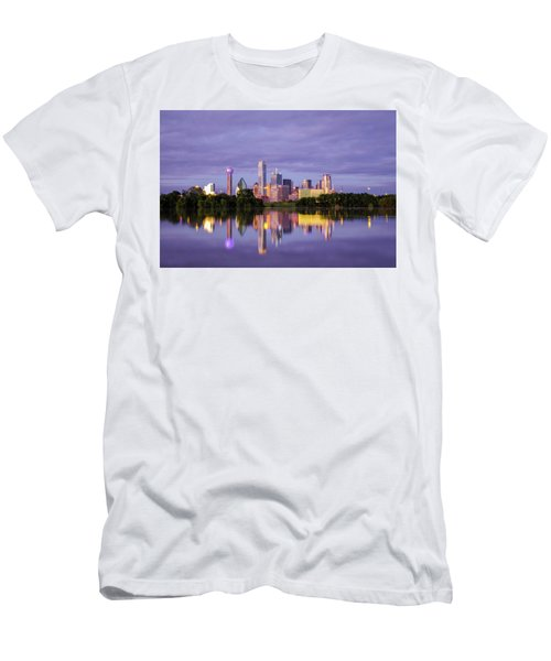 Dallas Texas Cityscape Reflection Men's T-Shirt (Athletic Fit)