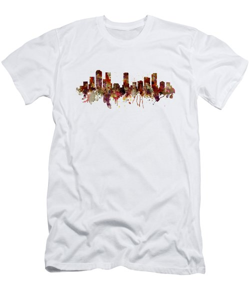Denver Skyline Silhouette Men's T-Shirt (Athletic Fit)