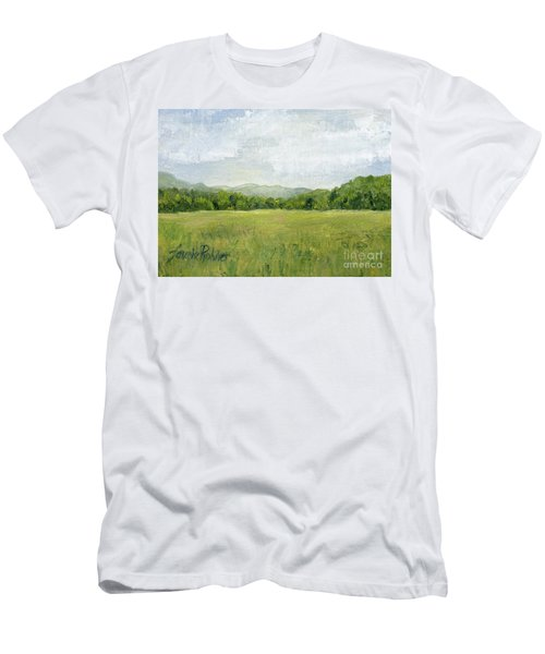 Fields Meet Mountains Men's T-Shirt (Athletic Fit)