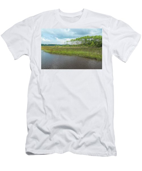 Men's T-Shirt (Athletic Fit) featuring the photograph Florida Marshland by John M Bailey