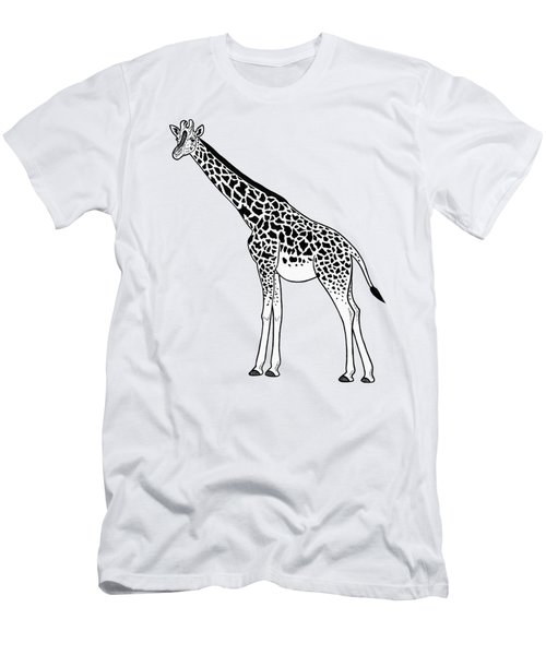 Giraffe - Ink Illustration Men's T-Shirt (Athletic Fit)