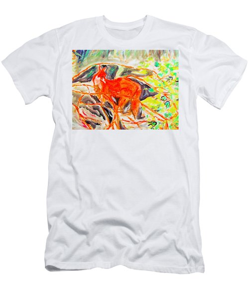 Hidden Fox Men's T-Shirt (Athletic Fit)