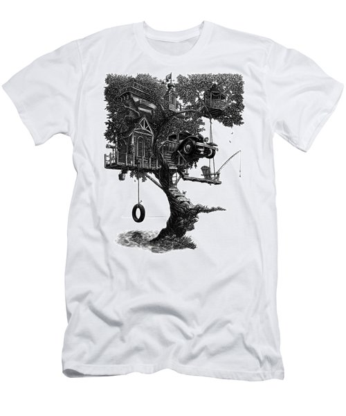 Lake Front Dream House Men's T-Shirt (Athletic Fit)