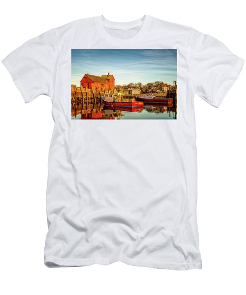 Low Tide And Lobster Boats At Motif #1 Men's T-Shirt (Athletic Fit)