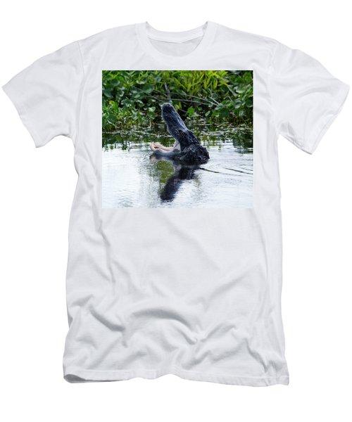 Open Wide Men's T-Shirt (Athletic Fit)