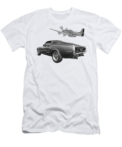 p51 With Bullitt Mustang Men's T-Shirt (Athletic Fit)