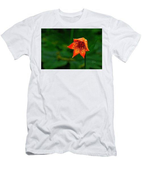 Men's T-Shirt (Athletic Fit) featuring the photograph Single Orange Grays Lily by Meta Gatschenberger