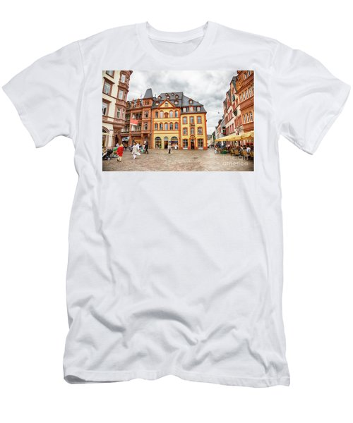 Men's T-Shirt (Athletic Fit) featuring the photograph Trier, Germany,  People By Market Day by Ariadna De Raadt