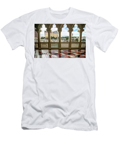 Men's T-Shirt (Athletic Fit) featuring the photograph Views Of Las Vegas Nevada Strip In November by Alex Grichenko