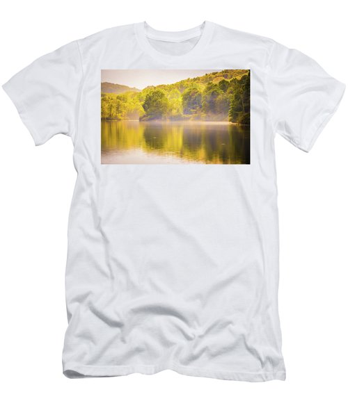 Men's T-Shirt (Athletic Fit) featuring the photograph Julian Price Lake, Along The Blue Ridge Parkway In North Carolin by Alex Grichenko