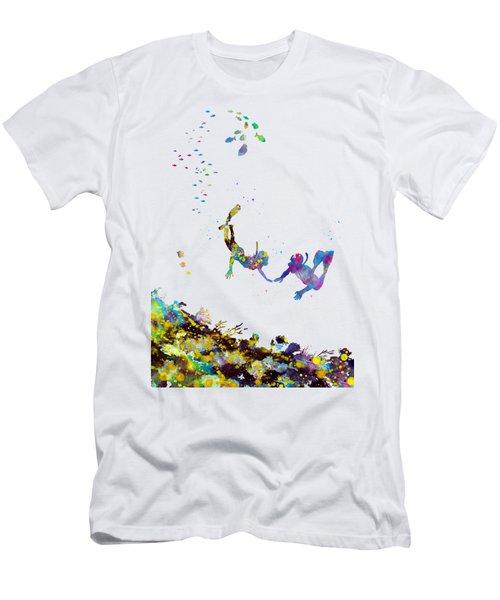 Scuba Divers Men's T-Shirt (Athletic Fit)