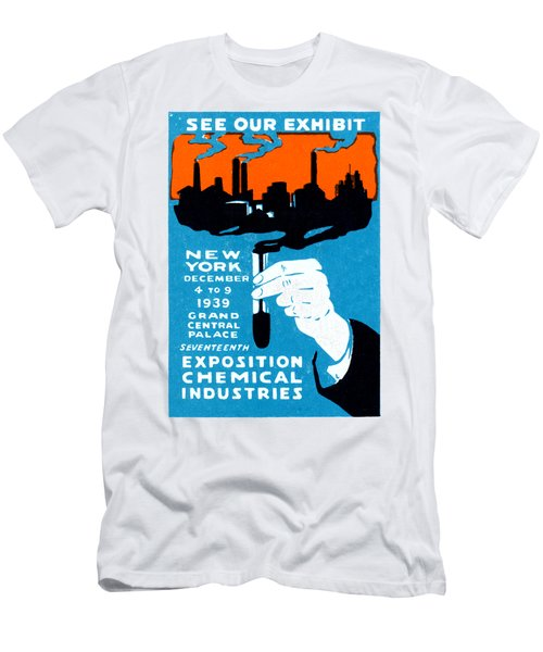 1939 Nyc Chemical Expo Poster Men's T-Shirt (Athletic Fit)