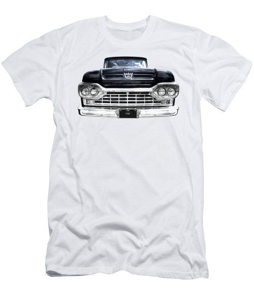 1960 Ford F100 Pick Up Head On Men's T-Shirt (Athletic Fit)