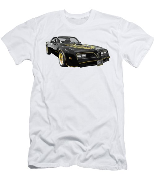 1976 Trans Am Black And Gold Men's T-Shirt (Athletic Fit)