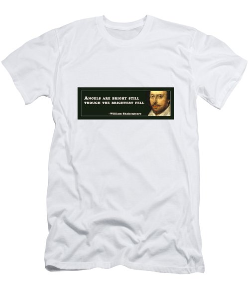 Angels Are Bright Still #shakespeare #shakespearequote Men's T-Shirt (Athletic Fit)