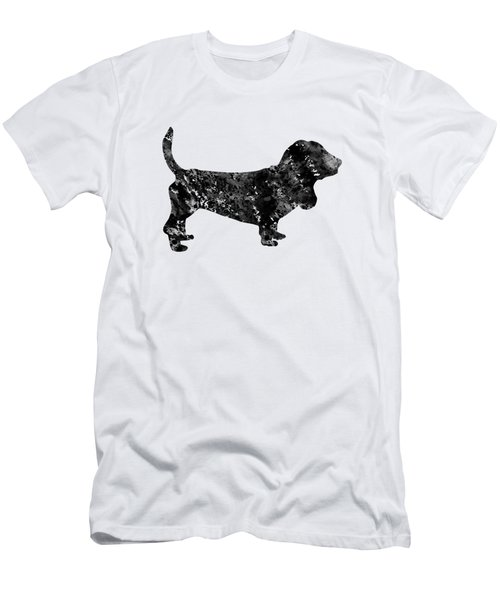 d01d50e8 Basset Hound-black Men's T-Shirt (Athletic Fit)