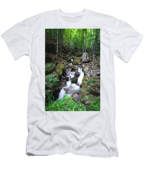 Bela River, Balkan Mountain Men's T-Shirt (Athletic Fit)
