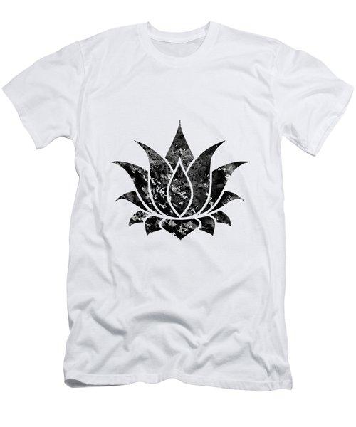 Lotus-black Men's T-Shirt (Athletic Fit)