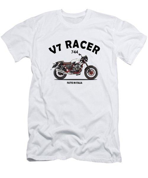 Moto Guzzi V7 Racer Men's T-Shirt (Athletic Fit)