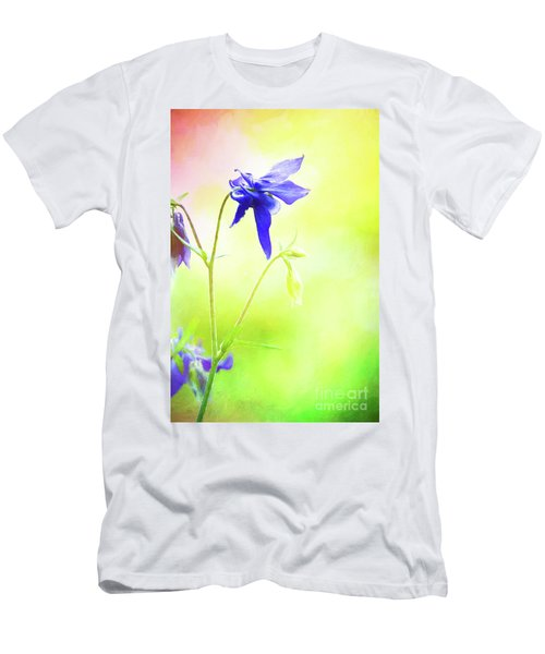 Painted Purple Columbine 2 Men's T-Shirt (Athletic Fit)