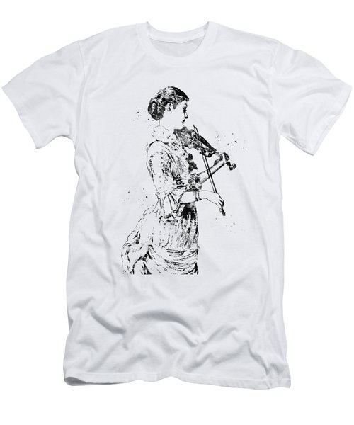 Vintage Music Violin Player Men's T-Shirt (Athletic Fit)