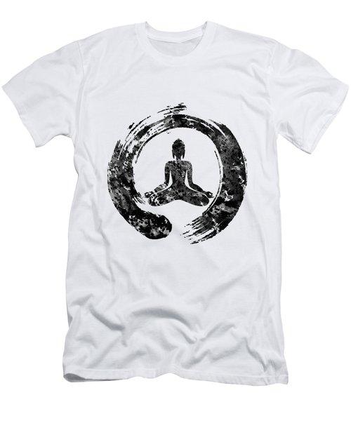 Zen Buddha-black Men's T-Shirt (Athletic Fit)