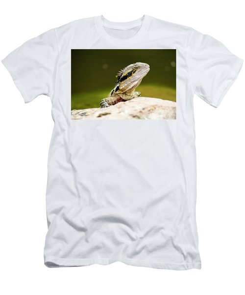 Men's T-Shirt (Athletic Fit) featuring the photograph Eastern Water Dragon Lizard by Rob D Imagery
